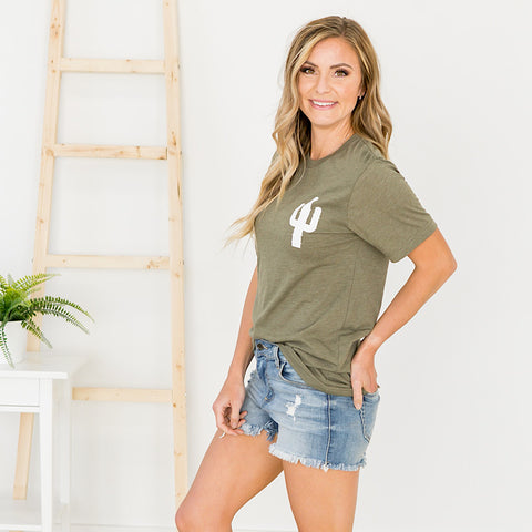 Olive Cactus Tee - Arrow Twenty Two