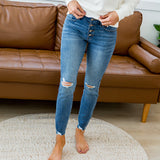 NEW! KanCan Andrea Distressed Button Up Jeans - Arrow Twenty Two