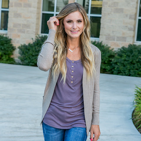 NEW! Favorite Cardigan - Camel