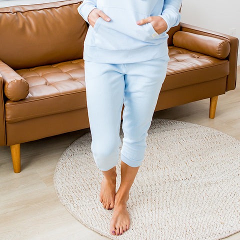 NEW! Baby Blue Capri Joggers