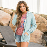 Favorite Light Blue Full Zip Hoodie - Arrow Twenty Two