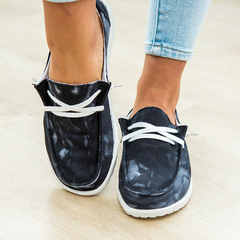 NEW! Gypsy Jazz Streak Black Slip on Sneaker