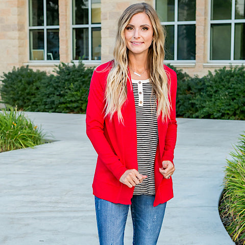 NEW! Favorite Cardigan - Red