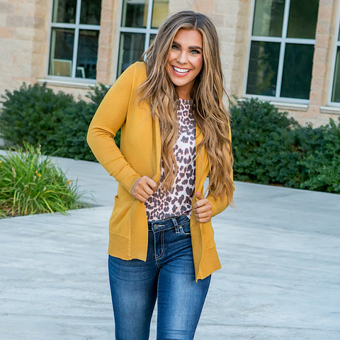 NEW! Favorite Cardigan - Mustard