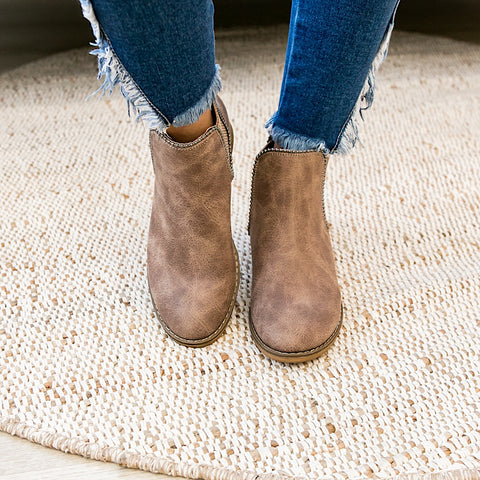 NEW! Chase Bootie - Taupe - Arrow Twenty Two