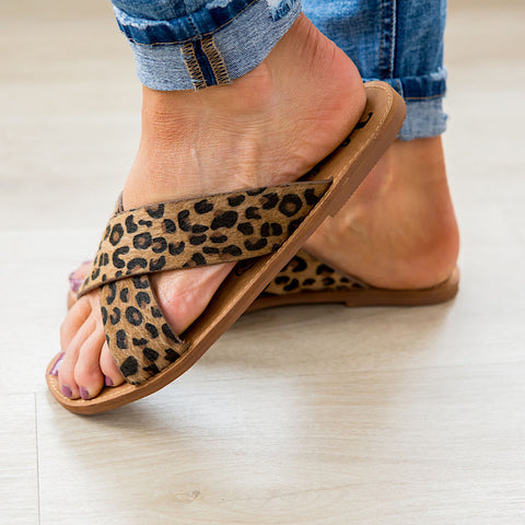 NEW! Very G Seaside Sandal - Tan Leopard - Arrow Twenty Two
