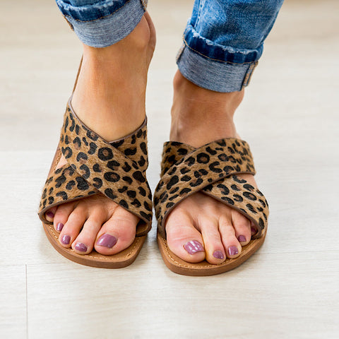 NEW! Very G Seaside Sandal - Tan Leopard