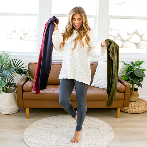 DOORBUSTER! Fleece Lined Leggings - 4 Colors - Arrow Twenty Two