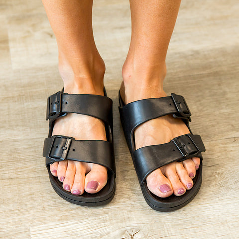 NEW! Mia Jasmin Slide - Black
