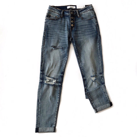 NEW! Girlfriend Distressed Jeans