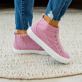 Gypsy Jazz Grayson High Top Sneaker - Pink - Arrow Twenty Two