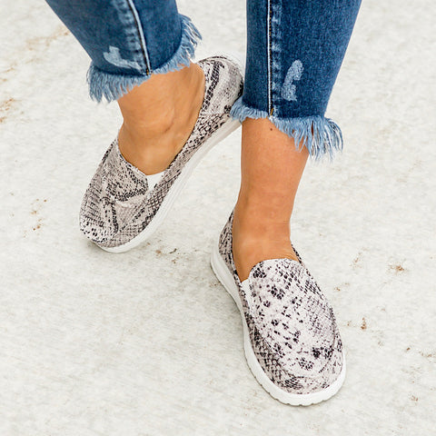 Simi Snakeskin Slip on Sneaker - Arrow Twenty Two