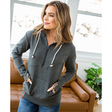 NEW! Ampersand Ave Charcoal Wild One Half Zip Hoodie - Arrow Twenty Two