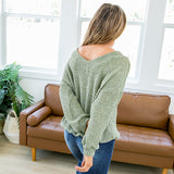 Callie Sage Double V Sweater - Arrow Twenty Two