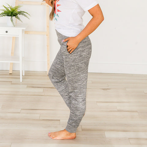 NEW! Marled Charcoal Lounge Joggers - Arrow Twenty Two