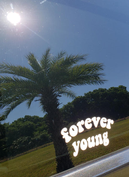 FOREVER YOUNG Car Decal