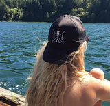 SandiLake Black Trucker