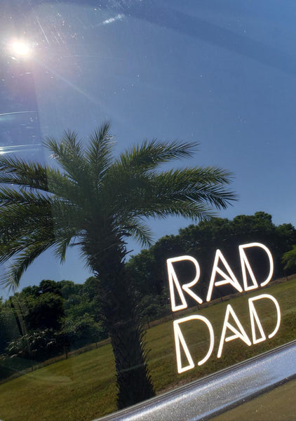 RAD DAD Car Decal