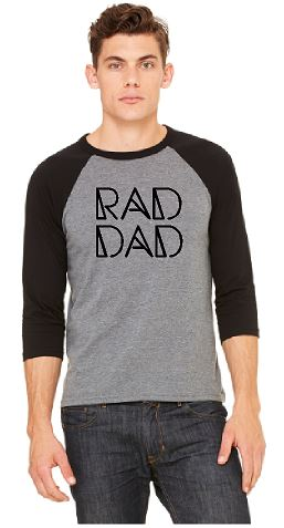 Rad Dad Baseball Tee