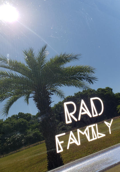 RAD FAMILY Car Decal