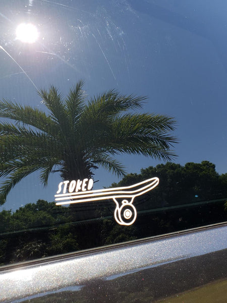 STOKED Car Decal