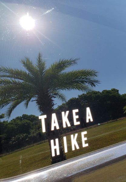 TAKE A HIKE Car Decal