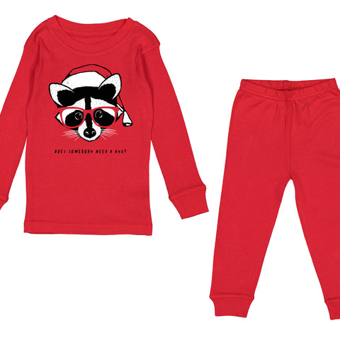 Raccoon Holiday Pajamas