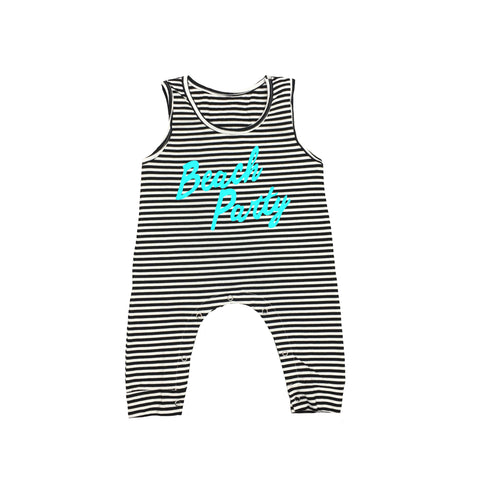 Beach Party Striped Romper