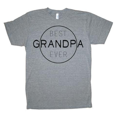 Best Grandpa Ever Gray Tee - Small