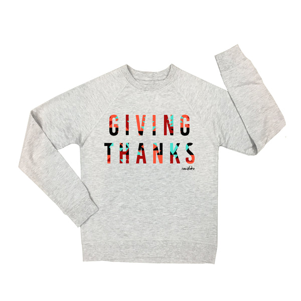 Aztec Giving Thanks Adult Crew Neck