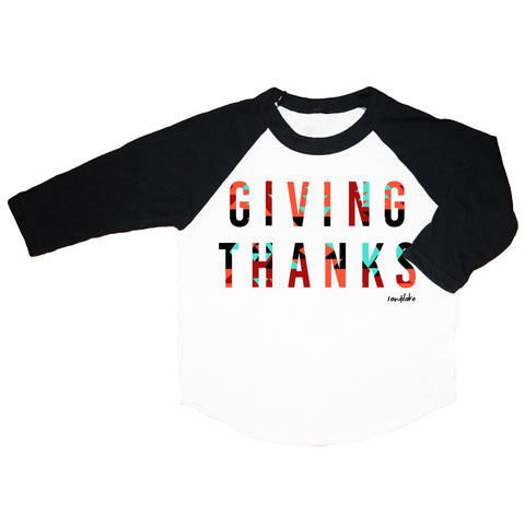 Aztec Giving Thanks Kid's Raglan