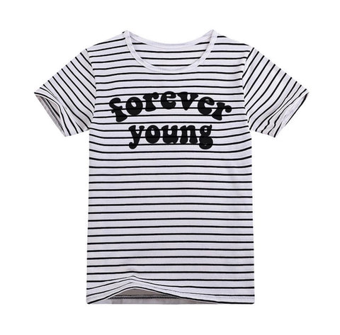 Forever Young Striped Tee