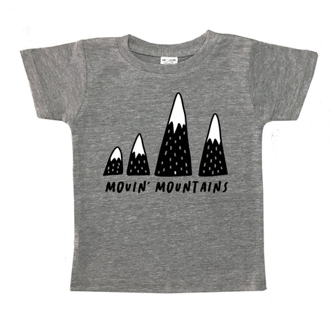 Movin' Mountains Kid's Gray Tee