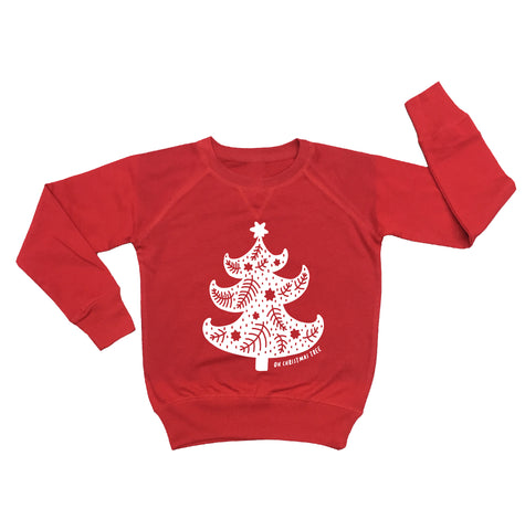 *PRE-ORDER* Oh Christmas Tree Red Kid's Crew