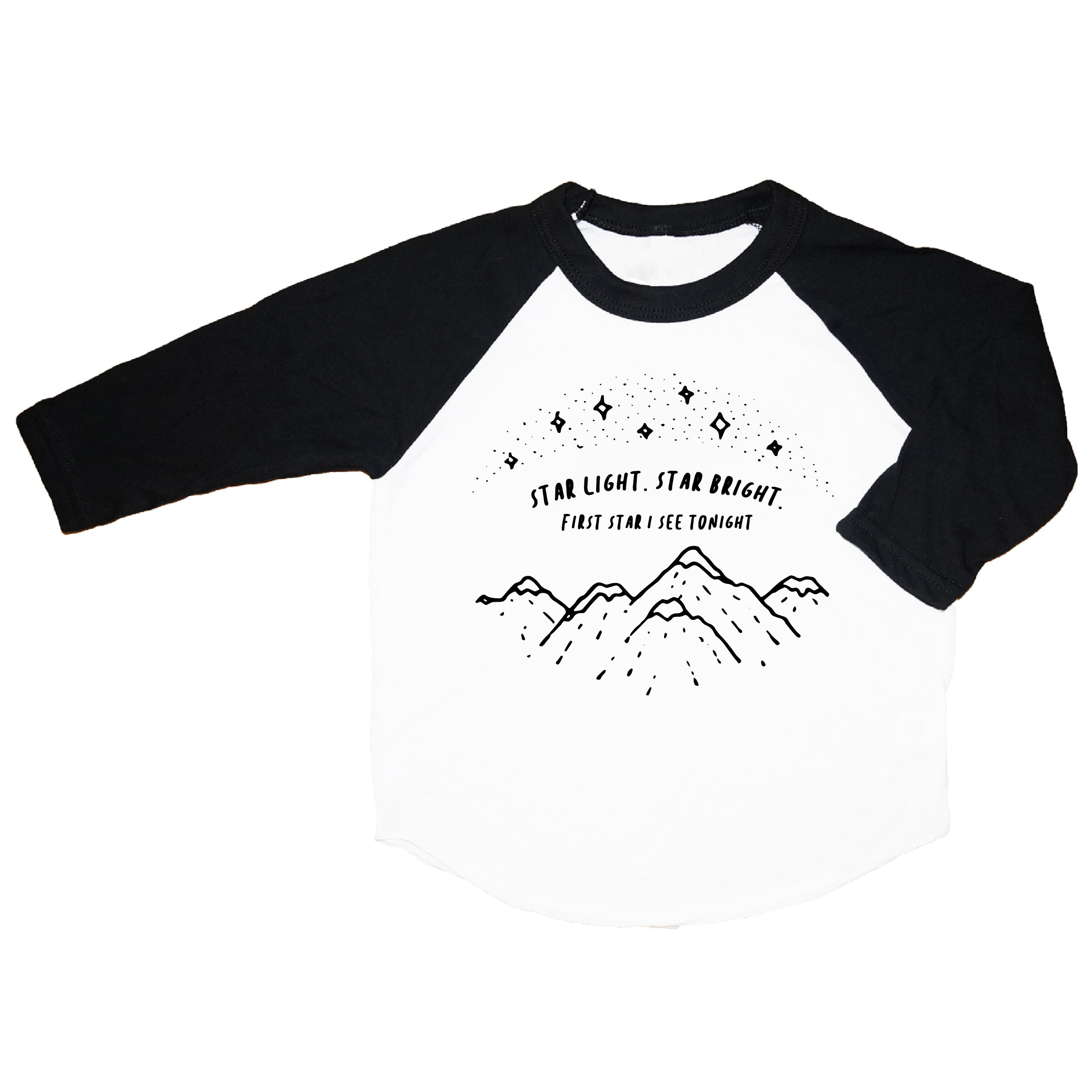 Starlight Black Raglan