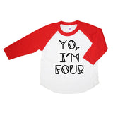 Yo I'm Four Kids Birthday Shirt