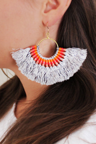 Mykonos Tassel Earrings
