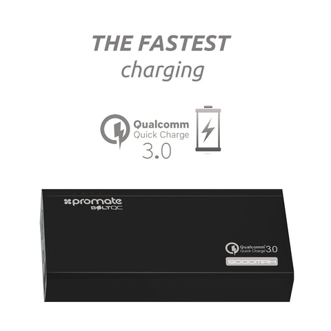 Promate BoltQC 9000mAh Quick Charge 3.0 Portable Robust Backup Battery