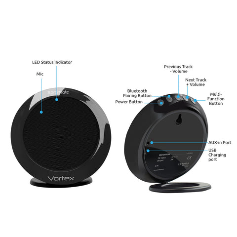 Vortex<br/><span style='color:#000000;font-size:16px;'>Dual Stereo BT v4.1 Speaker with True Wireless Technology</span>
