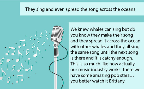They sing and even spread the song across the oceans