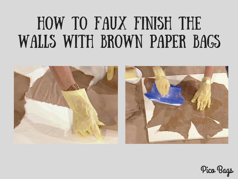 How to Faux Finish the Walls with Brown Paper Bags