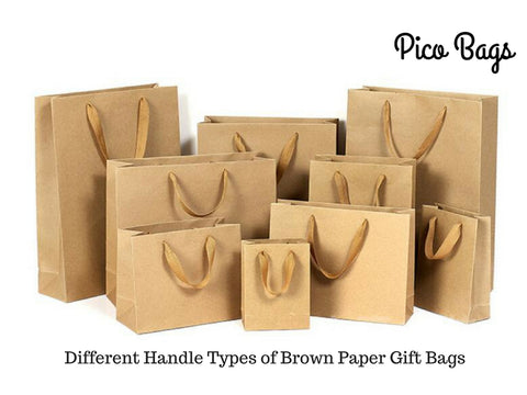 What Are Different Handle Types of Brown Paper Gift Bags?