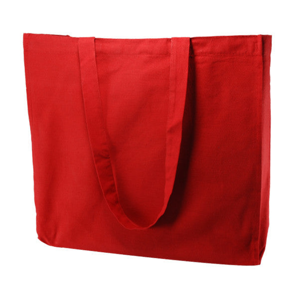 Red Cotton Gusset Bags