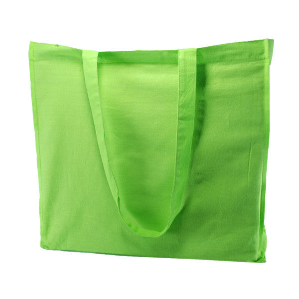 Green Cotton Gusset Bags