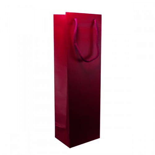 Solid Burgundy Matt Laminated Bottle Bags
