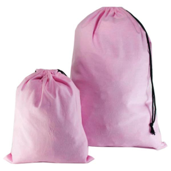 Light Pink Cotton Drawstring Bags