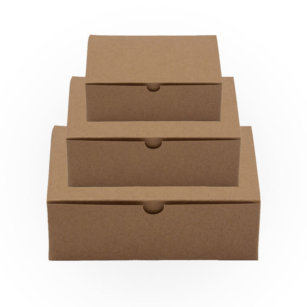 Plain Natural Brown Kraft Rectangle Gift Boxes -1 Pieces