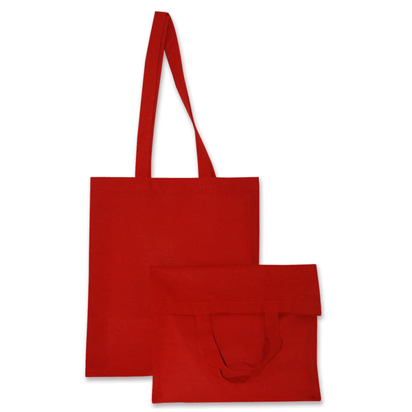 red cotton bags