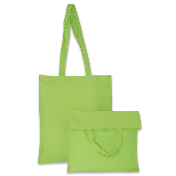 green cotton bags