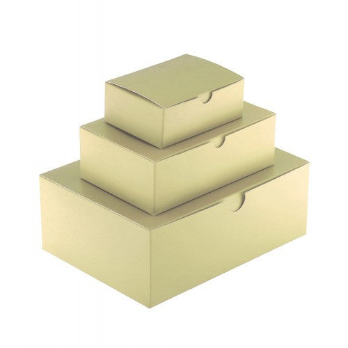 Gold Rectangle Gloss Laminated Gift Boxes - 1 Piece